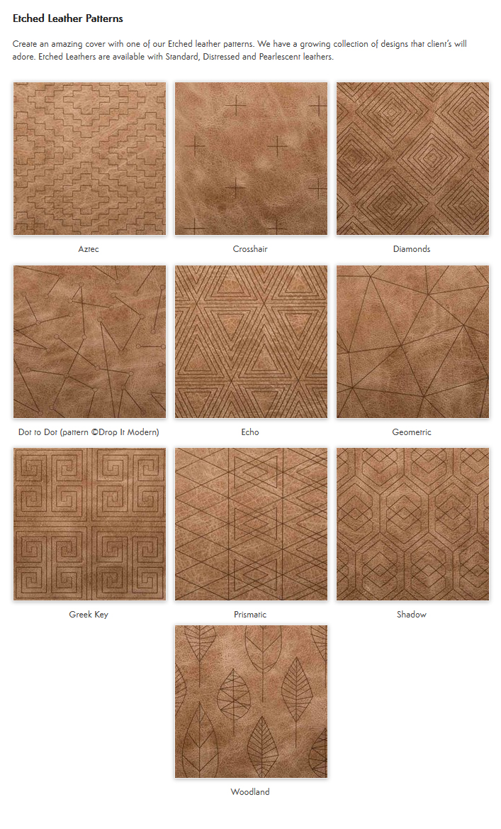 Etched Leather Patterns