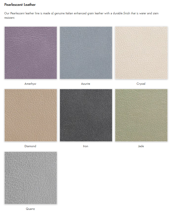Pearlescent Leather